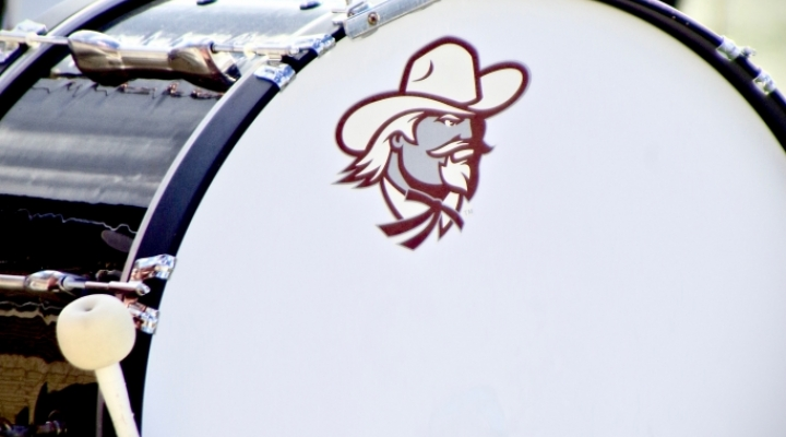 Bass Drum with Colonels logo